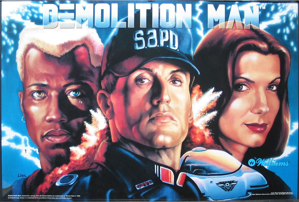 DEMOLITION MAN BACKGLASS