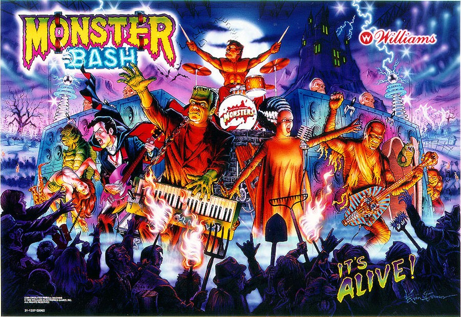MONSTER BASH BACKGLASS
