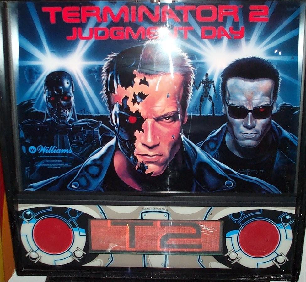 TERMINATOR 2 BACKGLASS
