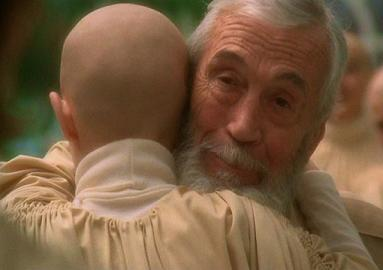 JOHN HUSTON AND BALD BABY