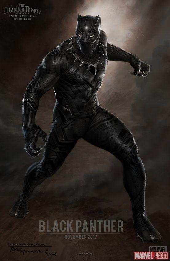 Black Panther concept art by Ryan Meinerding.