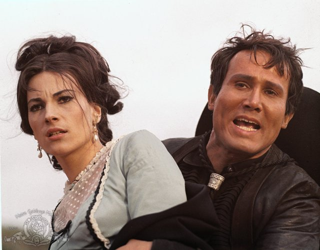 Nicoletta Machiavelli and Henry Silva in The Hills Run Red (1966)
