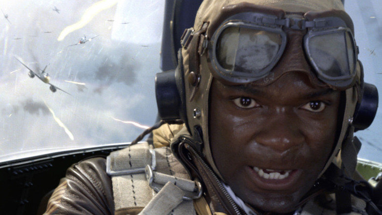 David Oyelowo portrays Joe Lightning Little in the movie Red Tails.
