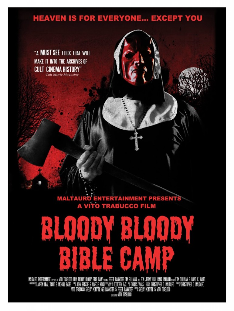 BLOODY BLOODY BIBLE CAMP www.cultmoviemania.com cult movie mania www.dailygrindhouse.com daily grindhouse vito trabucco shelby mcintyre reggie bannister ron jeremy tim sullivan chris raff david hayes jessica sonneborn