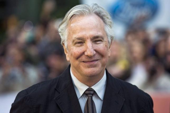 "Rickman arrives for the ""A Little Chaos"" gala at the Toronto International Film Festival in Toronto"