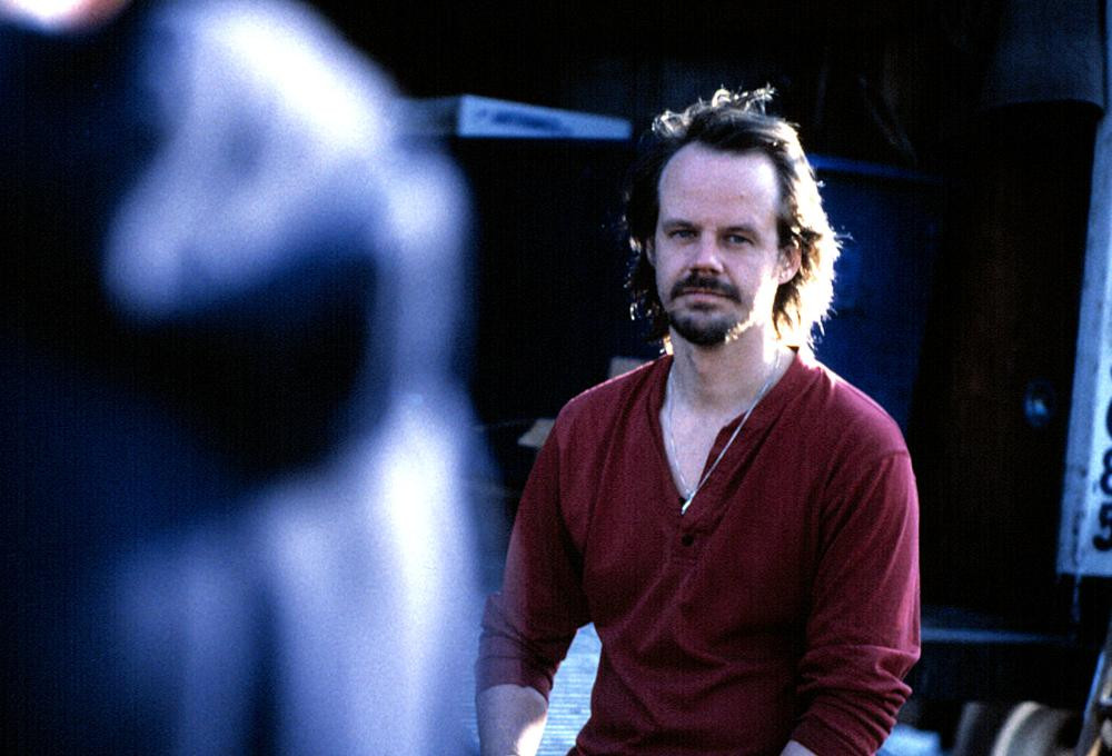 WENDIGO, Director Larry Fessenden on the set, 2002