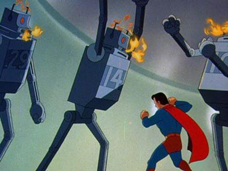 The Mechanical Monsters Daily Grindhouse SATURDAY MORNING CARTOONS SUPERMAN VS THE