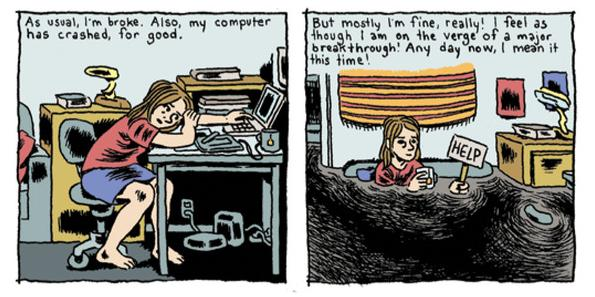[GRINDHOUSE COMICS COLUMN] 'EVERYTHING IS FLAMMABLE' BY GABRIELLE BELL