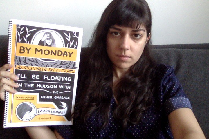 "[GRINDHOUSE COMICS COLUMN] LAURA LANNES' ""BY MONDAY I'LL BE FLOATING IN THE HUDSON WITH THE OTHER GARBAGE"""