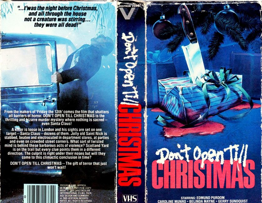 DON'T OPEN TILL CHRISTMAS - VHS Cover
