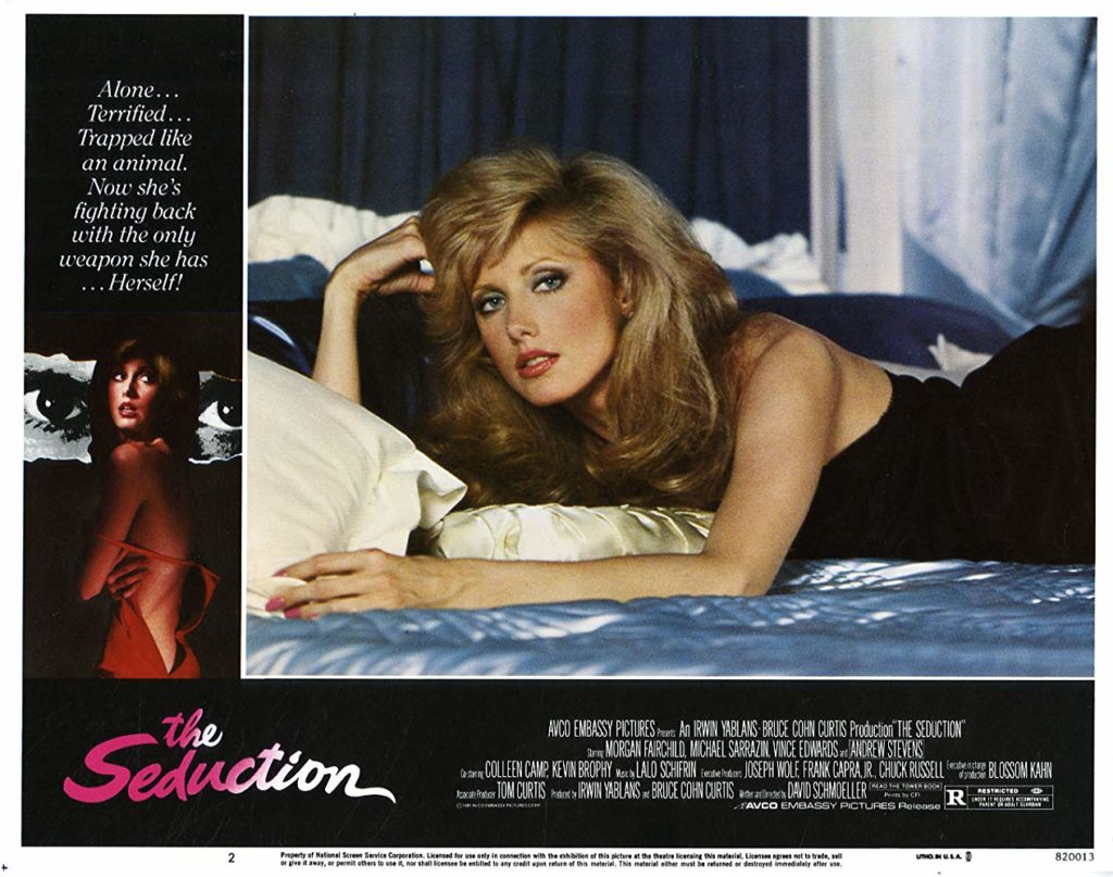 MORGAN FAIRCHILD TALKS STALKERS IN AN EXCLUSIVE INTERVIEW CLIP FROM THE UPCOMING SCREAM FACTORY BLU-RAY OF 'THE SEDUCTION'