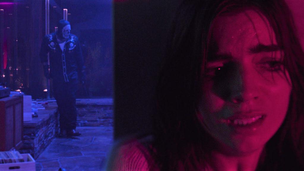 Angela Trimbur in neon hell