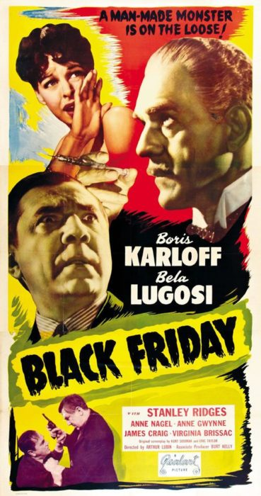 Universal Horror, BLACK FRIDAY poster