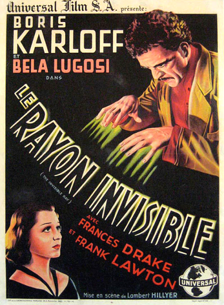 Universal Horror, THE INVISIBLE RAY poster