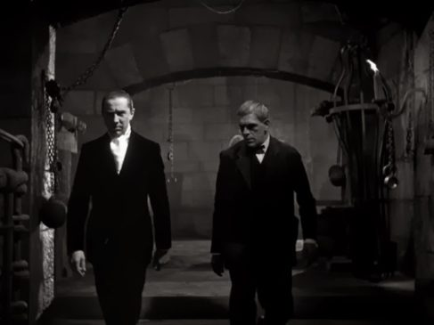 THE RAVEN - Bela Lugosi, Boris Karloff