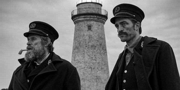 Willem Dafoe and Robert Pattinson in Robert Eggers' THE LIGHTHOUSE