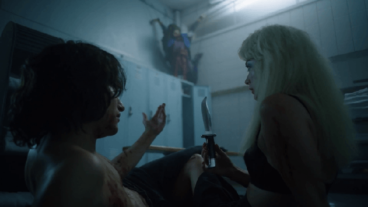 Zach Villa and Billie Lourd in American Horror Story: 1984