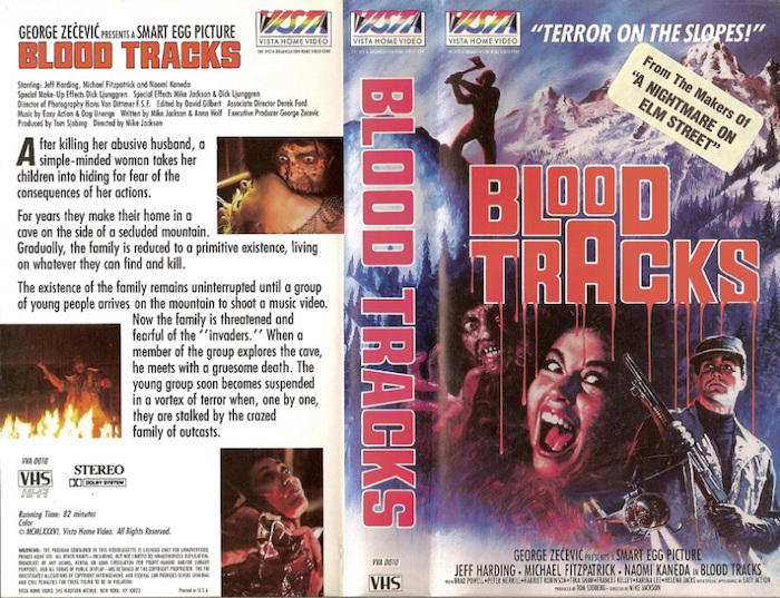 BLOOD TRACKS VHS cover