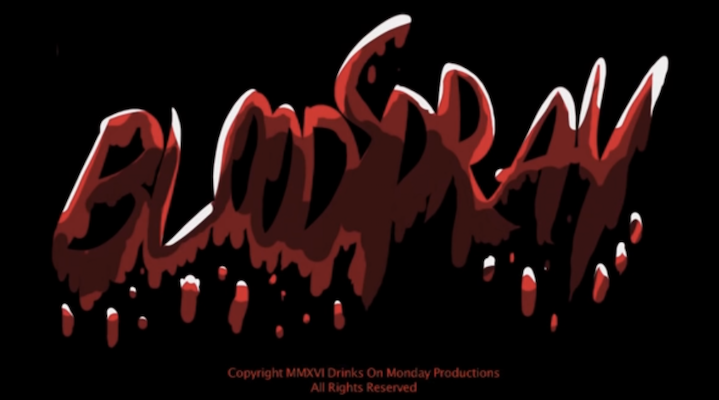 Title screen for BLOODSPRAY