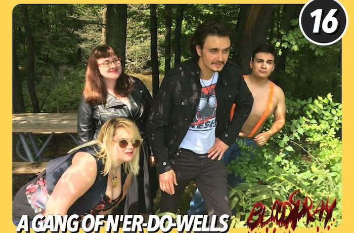 Devil Worshippers enjoying a day in the park in BLOODSPRAY