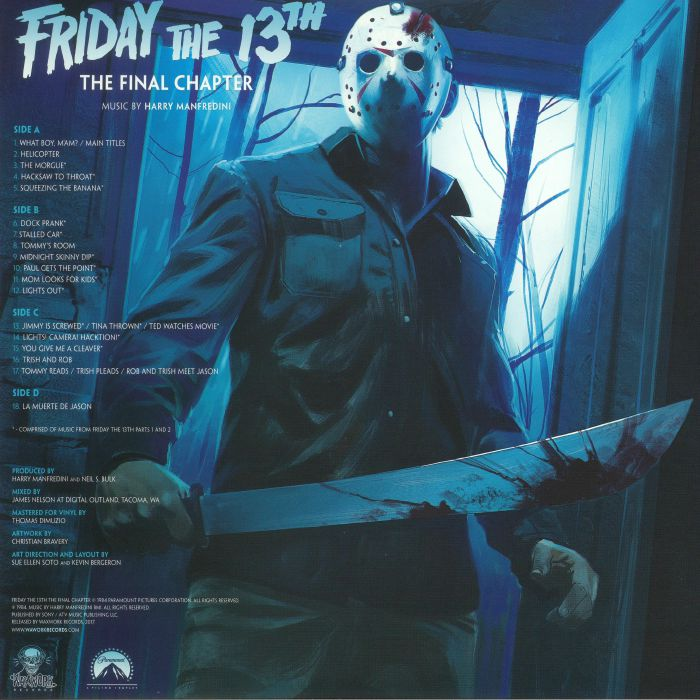 Harry Manfredini's tracklisting for FRIDAY THE 13TH: THE FINAL CHAPTER