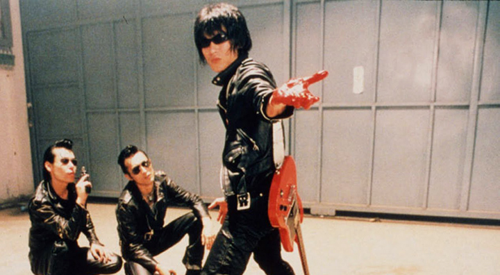 Guitar Wolf (the main dude and the name of the band) fight for love in WILD ZERO (1999)