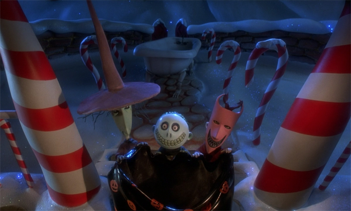Lock Stock and Barrel in THE NIGHTMARE BEFORE CHRISTMAS (1993)