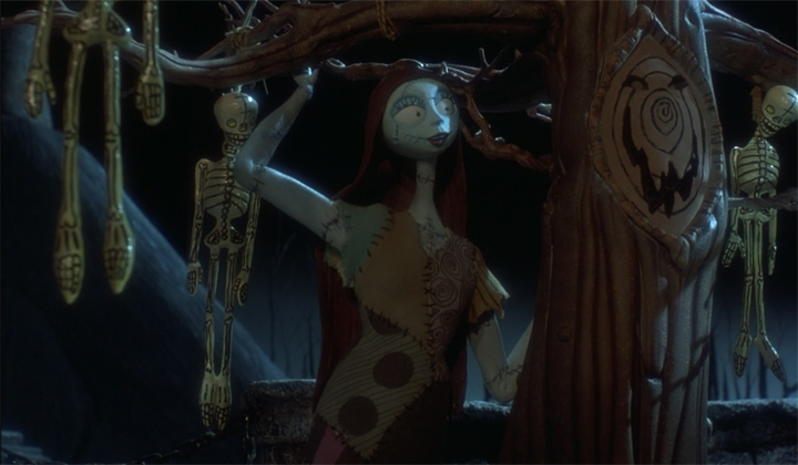 Sally pines from afar in THE NIGHTMARE BEFORE CHRISTMAS (1993)