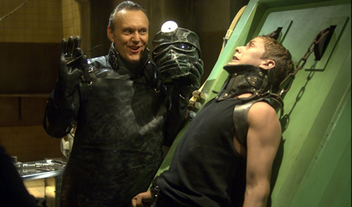 Repo Man finds joy in his work in REPO! THE GENETIC OPERA (2008)