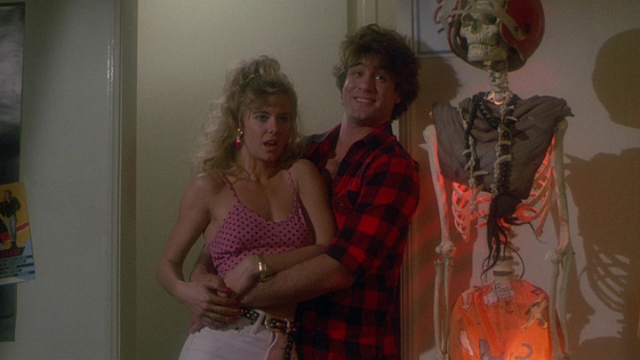 Wackiness ensues in this college students' house in SLAUGHTERHOUSE ROCK (1988)
