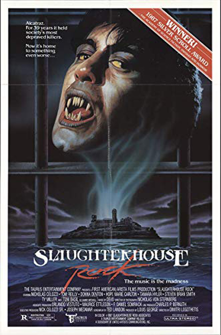 Poster for 1988's SLAUGHTERHOUSE ROCK