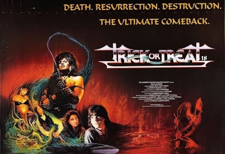 Legitimately dope poster for TRICK OR TREAT (1986)