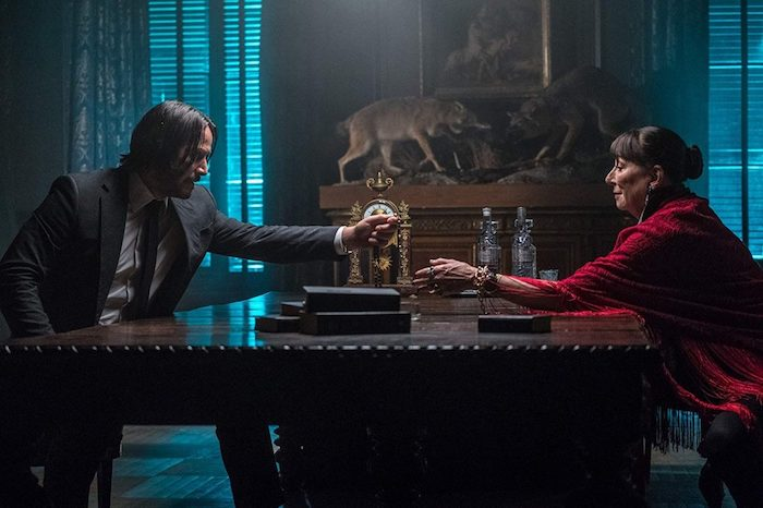 John Wick Chapter 3 Parabellum Keanu Reeves Angelica Huston