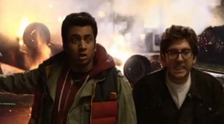 A Very Harold and Kumar 3D Christmas (2011) burning trees