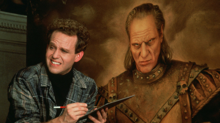 GHOSTBUSTERS II (1989) Peter MacNicol and the visage of Wilhelm Von Homburg