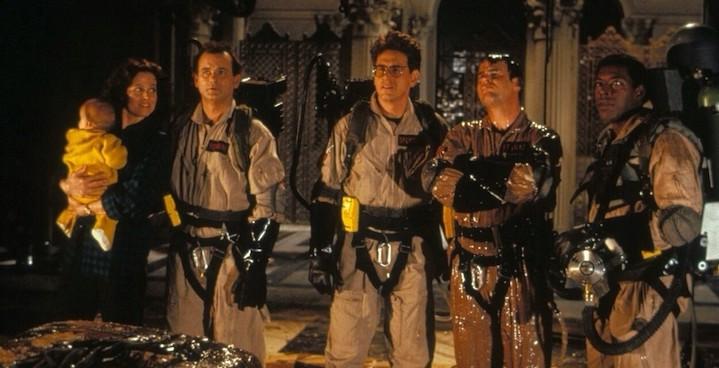 GHOSTBUSTERS II (1989) Sigourney Weaver, Bill Murray, Harold Ramis, Dan Aykroyd, Ernie Hudson