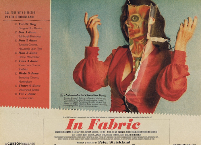 Poster for IN FABRIC from writer/director Peter Strickland