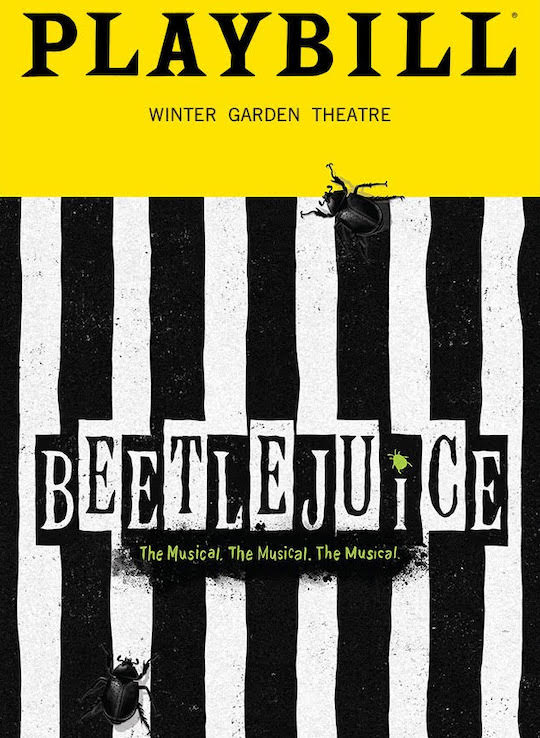 Beetlejuice The Musical playbill