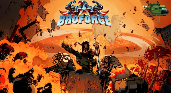 Broforce Cover and Logo