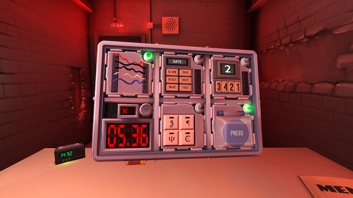 Keep Talking and Nobody Explodes gameplay