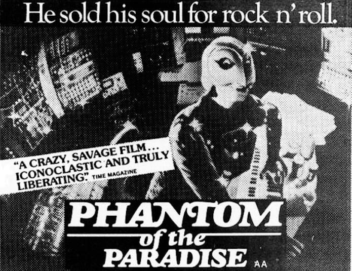 PHANTOM OF THE PARADISE (1977) ad