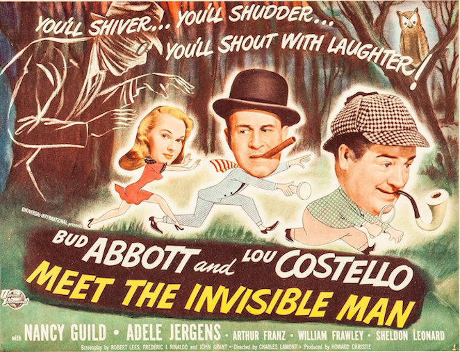 ABBOTT AND COSTELLO MEET THE INVISIBLE MAN (1951) poster with Nancy Guild