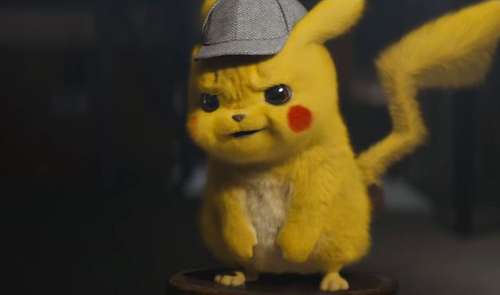 POKÉMON DETECTIVE PIKACHU (2019) with the titular sleuth
