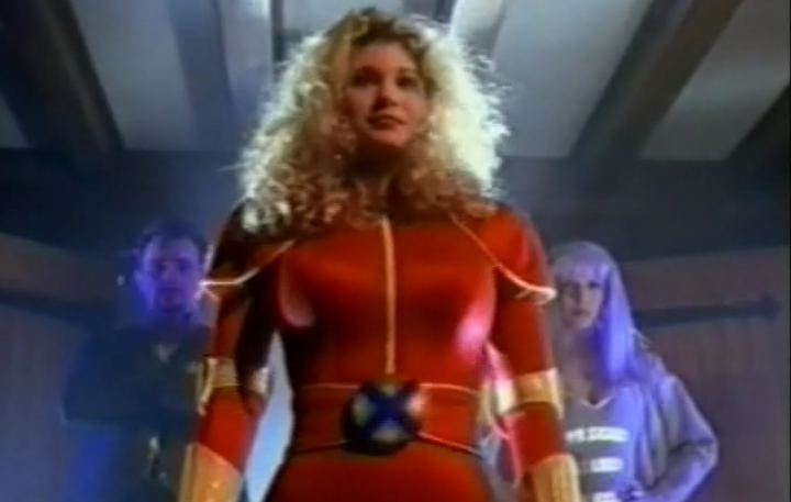 GENERATION X (1996) Suzanne Davis as Buff in....just the worst costume