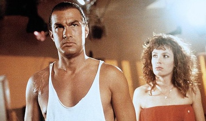 HARD TO KILL (1990) Steven Seagal and Kelly LeBrock in...happier times?