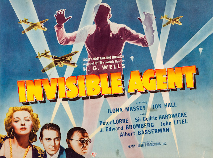 INVISIBLE AGENT (1942) movie poster