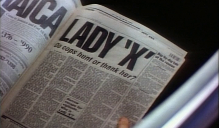 MODEL BY DAY (1993) It is an early comic book movie but this is already a worn out device