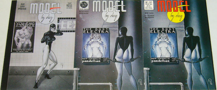 MODEL BY DAY (1993) original two issue comic book series by Kevin J Taylor