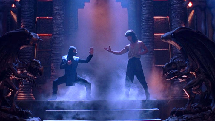 MORTAL KOMBAT (1995) Sub-Zero vs the guy from HONOR AND GLORY. Have you seen that? Pretty fun flick