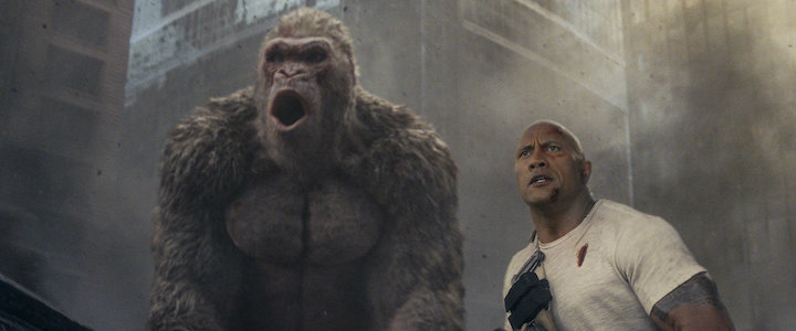 RAMPAGE (2018) Dwayne Johnson (right)
